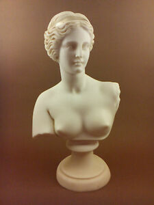 Venus Aphrodite Alabaster Great bust patina aged Goddess of love and beauty