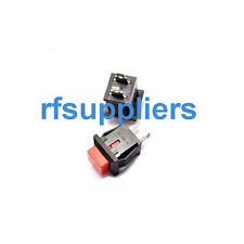 10X 2 Pin SPST Square Red Momentary UnLocked Push Button Switch 1A 125V No Lock