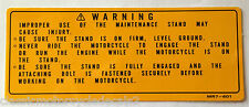 HONDA VFR750R RC30 ORIGINAL PADDOCK STAND CAUTION WARNING LABEL DECAL