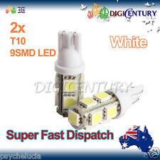2x T10 WHITE 9SMD 5050 LED for Car Side Light Parker Bulb Lamp DC 12V