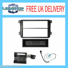 SKODA FABIA 2007 to 2012 FITTING KIT BLACK FASCIA FACIA ADAPTOR PANEL SURROUND