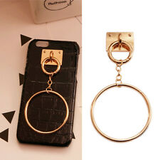 Universal Gold DIY Phone Cover Ring Holder Stand Pendant Keyring Cellphone Decor