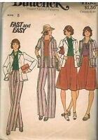 4133 Vintage Butterick Sewing Pattern Misses Jacket Skirt Pants OOP Fast Easy 8