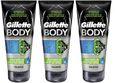 Gillette Body Non Foaming Shave Gel for Men, 5.9 Fluid Ounce (3 Pack)