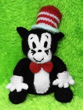 KNITTING PATTERN - The Cat in the Hat inspired chocolate orange cover /17cms toy