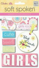 Soft Spoken CHESTER - GIRL - Scrapbook Dimensional Craft Sticker by MAMBI