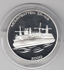 Corea 5 won 2000 Mountbatten cojines de aire bote pulida placa de plata