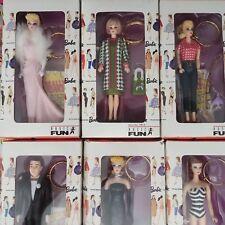 Barbie Keychains 1995 Collection Fun Set of 6 unique Figures for Women purse