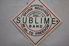 A Very Difficult to find  SUBLIME BAND long Beach Skunk Records 40 Oz Sticker