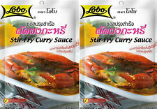 2 x 50g. Lobo Stir-Fry Curry Sauce Thai Authentic Food Thai Cooking Crab Seafood