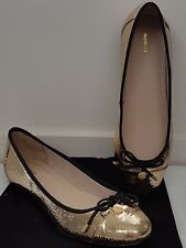 MIMCO FICTION BALLET FLATS SHOES in Gold RRP$129 size 40