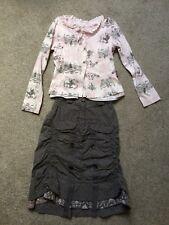 Jottum TARA skirt and KNEELTJE shirt size 128 / 8 yrs good condition