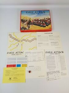 Zulu Attack Board Game Vintage Unpunched Strategy NEW Complete Phoenix Enterpris