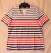 Samoon Shirt Gerry Weber Baumwolle Stretch kurzarm gestreift Neu Damen Gr.46