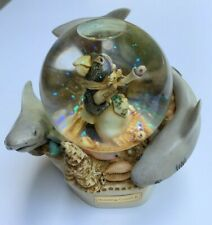 New listing 2001 Harmony Kingdom Holding Court Ii Penguin & Sharks Snow Globe Redemption