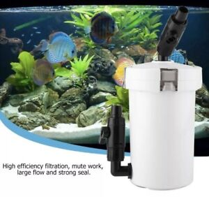 Aquarium Fish Tank External Canister Filter Outside Table Top Pre-Filter HW-603B