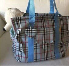 New Blue Plaid Small Dog Shoulder Bag Up To 13 Lbs.