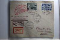 Sowjetunion 403B+405B gestempelt auf Brief Polarfahrt 1931 Graf Zeppelin #TQ561