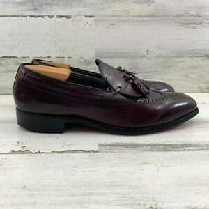 Classics by FootJoy Oxford Tassel Longwing Burgundy Leather Brogue Men Sz 11.5C