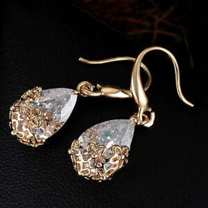 Water Drops Shape Flower Earrings Stud Earrings Trendy Women Trinket C