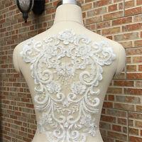 Luxury Embroidery Lace Back Flower Stickers Wedding Dress Fashion Decoration