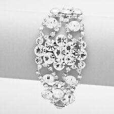Silver Clear Bubble Evening Bracelet