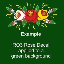 RO3 Self Adhesive Traditional Roses for Canal/Narrow Boat Decoration & Canalia