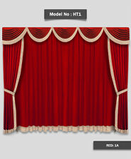 Saaria Drape Decor Movie Home Theater Event Stage Velvet Curtain 8'W x 8'H HT-1