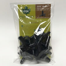 CDL  Black  5/16 in. W Maple Syrup Tubing Tee  Plastic
