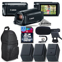 Canon VIXIA HF R800 + Shotgun Mic + 2 Extra Battery + Stabilizer - 64GB Bundle