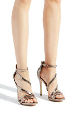 Brand New bronze snake skin heeled sandals Edan by Shoedazzle. Size 10