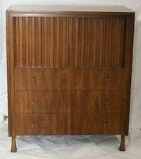 Vintage Mid-Century John Widdicomb Highboy Dresser Gentlemans Chest Tambour Door