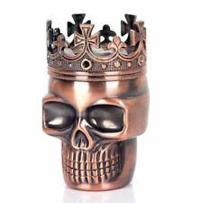 Punk Ghost Head Skull Style Plastic Tobacco Grinder Herbal Herb Hand Muller