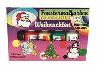 Fenstermalfarben Grundausstattung für Weihnachten von Ahrenshof, Window Colors