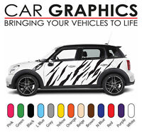 Mini cooper car graphics tiger stripes decals stickers vinyl mn39