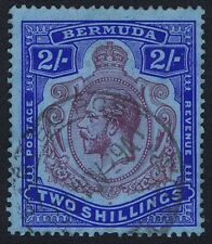 Bermuda 1924 SG88 2/- Purple and Blue Flaw 55D with PARCEL POST Ex Shaw