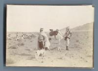 Algérie, Cavaliers  Vintage silver print.  Tirage argentique  6x8,5  Circa