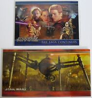 Star Wars Attack of the Clones 2 NSU Promo Insert Cards# P1 REG+WIDE TOPPS 2002