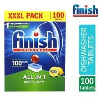 Dishwasher Tablets Lemon Finish 100 Powerball All in One XXXL