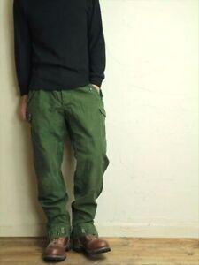 Vintage Swedish army M59 trousers green khaki pants military olive cargo combat