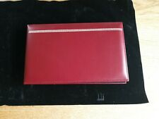 Dunhill Red Leather Bound Desk Writing Pad