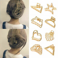Metal Geometric Women Hair Claw Clips Hairband Hollow Hair Clips Hair Crab Clip