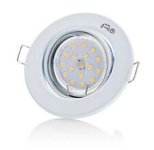 Einbauleuchte GU10 LED SET DECORO 230V 4W TÜV Deckenstrahler Spots Einbaurahmen