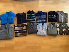 LOT OF 12 MEN SWEATERS - Lacoste,Marmot,Tommy,Nautica,Rossignol etc. SIZE M,L,XL