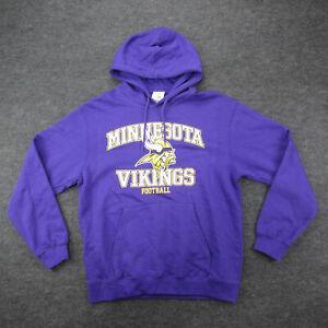 Minnesota Vikings Hoodie Men's Size L Purple Pullover Hooded Sweatshirt New