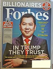 FORBES MAGAZINE 2017 SPECIAL EDITION 30TH ANNIV WEALTH RANKING NEW&UNREAD