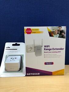 *NEW* *EU to UK adapter inc* EX6150-100PES AC1200 NETGEAR WIFI EXTENDER