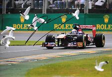 Jean Eric Vergne firmato 12x8, F1 TORO ROSSO STR8. AUSTRALIAN GP Melbourne 2013