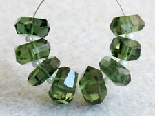 AAA Natural Green Apatite Faceted Nugget Precious Gemstone Beads (29040)