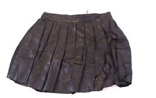 Alice + Olivia Women's Stacey Bendet Pleated Leather Mini Skirt Black TW4 Size 2